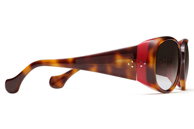 Morgenthal Frederics - Arista XL Sunglasses Traditional Tortoise/Red