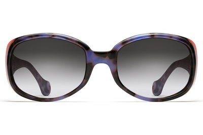 Morgenthal Frederics - Arista XL Sunglasses Blue Tortoise/Orange