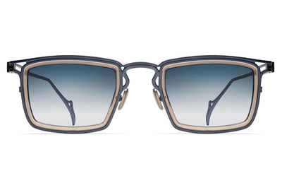 Morgenthal Frederics - The Ninety-Two Sunglasses Navy/Brown Crystal
