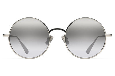 Monse x Morgenthal Frederics - Samantha Sunglasses Silver Shiny Black
