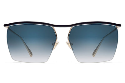 Monse x Morgenthal Frederics - Amber Sunglasses Navy/Gold