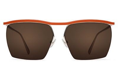 Monse x Morgenthal Frederics - Amber Sunglasses Orange/Silver