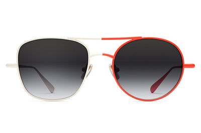 Monse x Morgenthal Frederics - Ginger Sunglasses White/Red