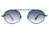 Monse x Morgenthal Frederics - Nina Sunglasses Navy/Green