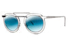 Silver with Flat Gradient Blue Lenses (500)