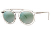 Silver with Flat Green Mirror Lenses (500)