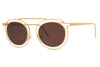 Gold with Flat Solid Brown Lenses (900)