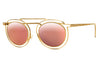 Gold with Flat Rose Gold Mirror Lenses (900)