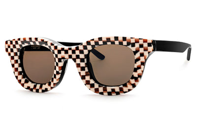 RHUDE x Thierry Lasry - Rhodeo Sunglasses Vintage Checkboard Pattern w/ Brown Lenses (V022)