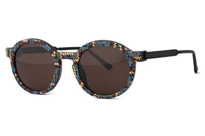 Thierry Lasry - Sobriety Sunglasses Vintage Burgundy, Blue, Gold Pattern & Matte Black (V08)