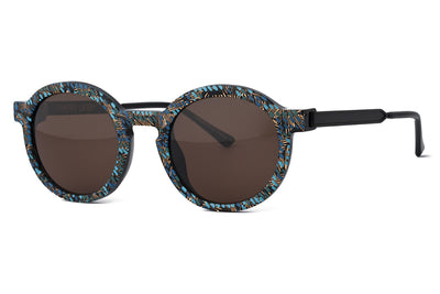 Thierry Lasry - Sobriety Sunglasses Vintage Green, Blue, Gold Pattern & Matte Black (V09)