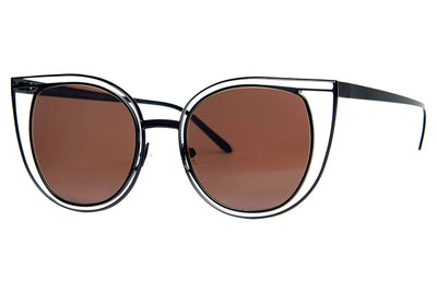 Thierry Lasry - Eventually Sunglasses Matte Black w/ Brown Lenses (700)