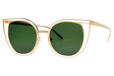 Thierry Lasry - Eventually Sunglasses Gold w/ Green Lenses (900)
