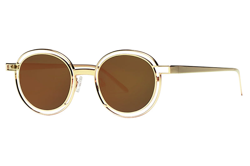 Thierry Lasry - Probably Sunglasses Gold with Rose Mirror Lenses (900)