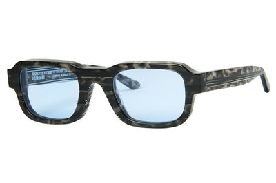 Enfants Riches Déprimés x Thierry Lasry - The Isolar 2 Sunglasses Grey Tortoise w/ Light Blue Lenses (CF4)