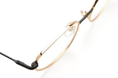 Kaleos Eyehunters - March Eyeglasses Gold/Black