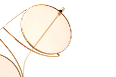 Kaleos Eyehunters - Jefferies Sunglasses Gold with Pink Lenses