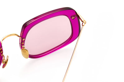 Kaleos Eyehunters - Barton Sunglasses Transparent Hot Pink