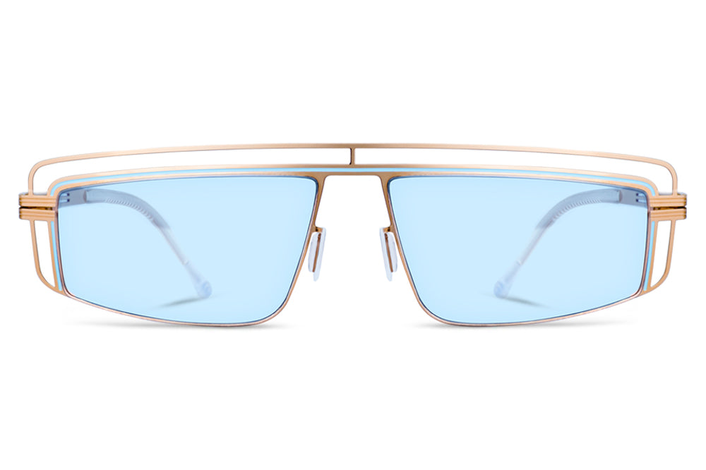 Lool Eyewear - Zeta Sunglasses Gold/Blue