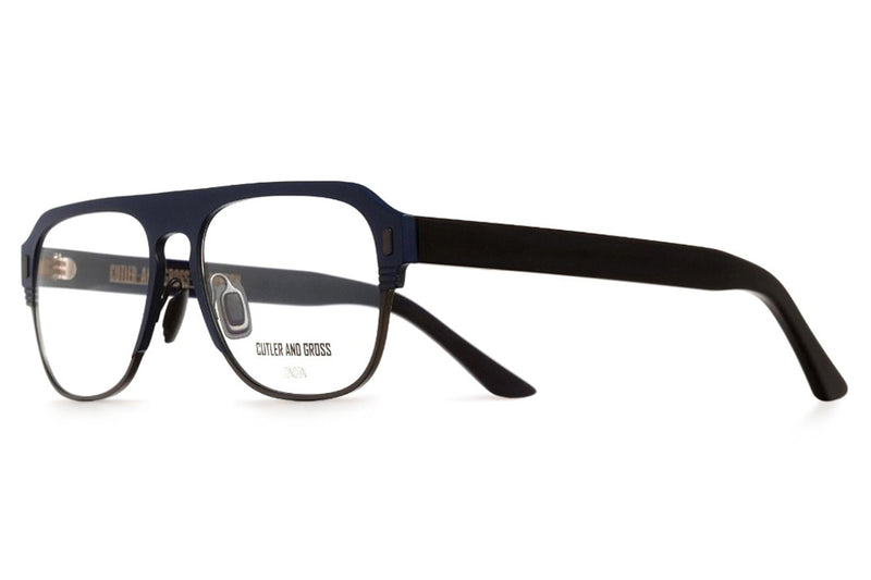 Cutler & Gross - 1365 Eyeglasses Matte Navy Blue on Black