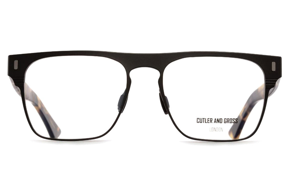 Cutler & Gross - 1366 Eyeglasses Matte Black on Camo