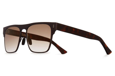 Cutler and Gross - 1366 Sunglasses Matte Brown on Dark Turtle