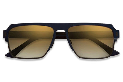 Cutler and Gross - 1364 Sunglasses Matte Navy Blue on Black