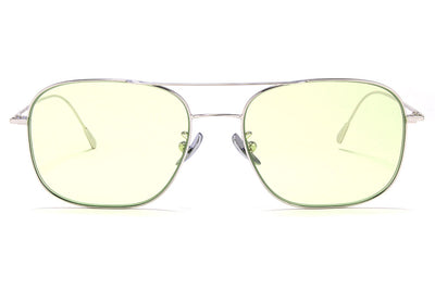 Cutler & Gross - 1267 Sunglasses Palladium Plated with Pale Green Lenses