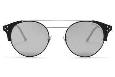 Cutler & Gross - 1271 Sunglasses Black and Matte Black with Silver Lenses