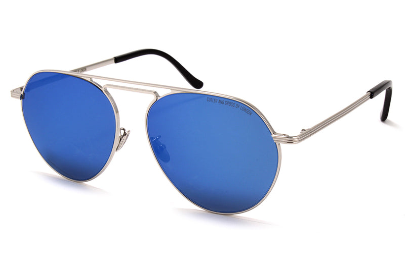 Cutler and Gross - 1309 Sunglasses Silver with Blue