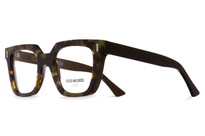 Cutler & Gross - 1305 Eyeglasses Green Camo on Black