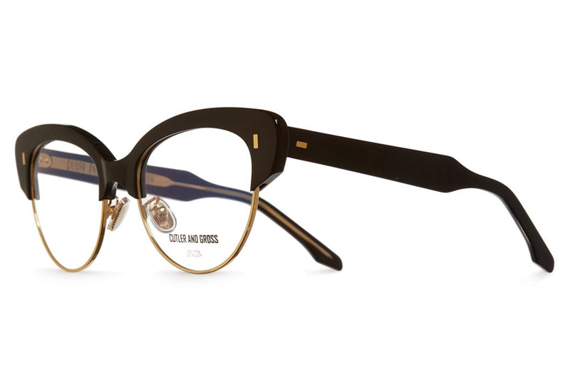 Cutler & Gross - 1351 Eyeglasses Black Taxi & Gold