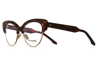 Cutler & Gross - 1351 Eyeglasses Chocolate Swirl & Gold