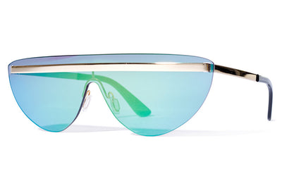Bob Sdrunk Sunglasses - Dave Gold with Green Mirror Lenses