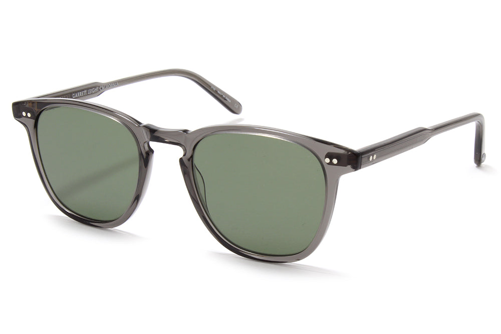 Garrett Leight® - Brooks Sunglasses Grey Crystal with Semi-Flat Pure G15 Lenses