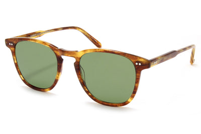Garrett Leight® - Brooks Sunglasses Pinewood with Semi-Flat Pure Green Lenses