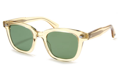 Garrett Leight® - Calabar Sunglasses Champagne with Semi-Flat Pure Green Lenses