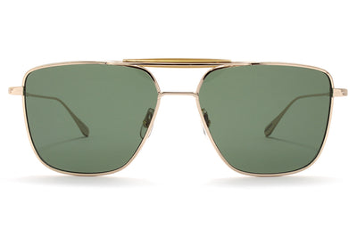Garrett Leight® - Convoy Sunglasses Gold-Hazel with Semi-Flat G15 Lenses