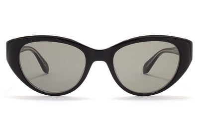 Garrett Leight® - Del Rey Sunglasses Black Laminate Crystal with Semi-Flat G15 Lenses