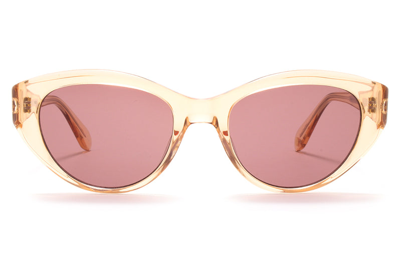 Garrett Leight® - Del Rey Sunglasses Pink Crystal with Semi-Flat Lilac Lenses
