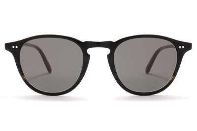 Garrett Leight® - Hampton Sunglasses Basalt with Semi-Flat Grey-Black Lenses