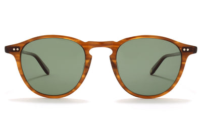 Garrett Leight® - Hampton Sunglasses Demi Blonde with G15 Polarized Glass Lenses