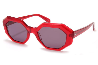 Garrett Leight® - Jacqueline Sunglasses Cherry with Semi-Flat Purple Lenses