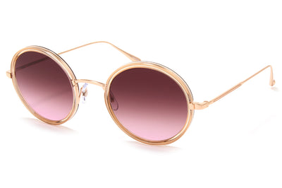 Garrett Leight® - Playa Sunglasses Pink Crystal-Rose Gold with Semi-Flat Cherry Bomb Lenses