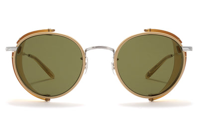 Garrett Leight® - Wilson Shield Sunglasses Cream with Flat G15 Gold Flash Lenses