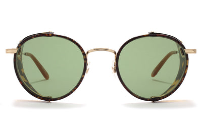 Garrett Leight® - Wilson Shield Sunglasses Matte Bourbon Tortoise with Green Lenses