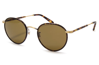 Garrett Leight® - Wilson Sunglasses Bourbon Tortoise-Matte Spotted Tortoise with Pure Brown Glass Lenses