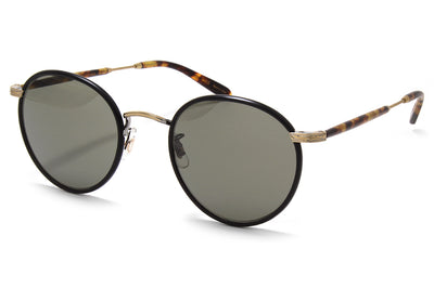 Garrett Leight® - Wilson Sunglasses Matte Black-Matte Spotted Tortoise with Pure Grey Glass Lenses