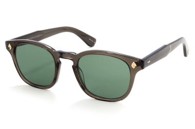 Garrett Leight - Ace Sunglasses Black Glass with Semi-Flat Pure G15 Lenses