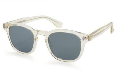 Garrett Leight - Ace Sunglasses Pure Glass with Semi-Flat Blue Smoke Lenses